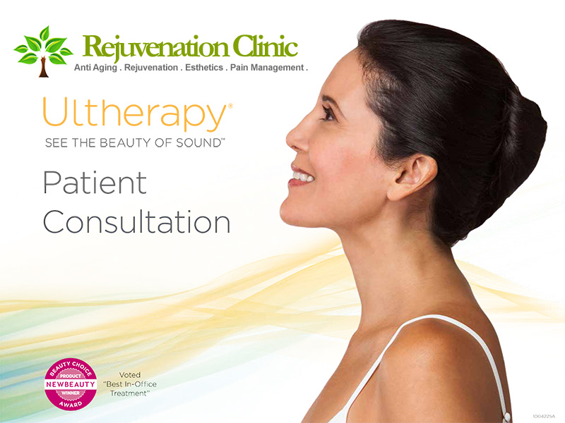 patient consultation face neck chest Ultherapy